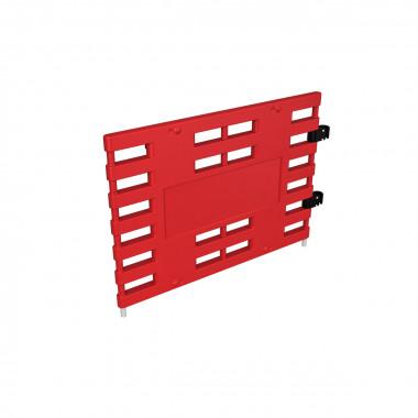 Ограждение барьерное «ARGO» (с коннекторами) красный