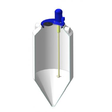 Емкость ФМ 240л в обрешетке c пропеллерной мешалкой