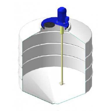 Емкость ФМ 500л в обрешетке с турбинной мешалкой