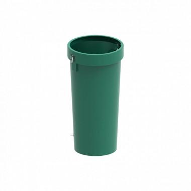 Мусоросброс секция прямая зеленый