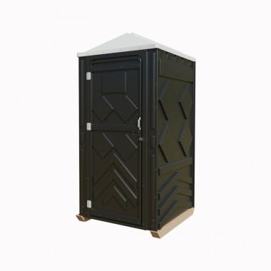 """Мобильная туалетная кабина """"Рециклинг"""" в сборе черная"""