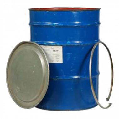 Бочка металлическая 200л б/у цилиндрическая с крышкой и хомутом